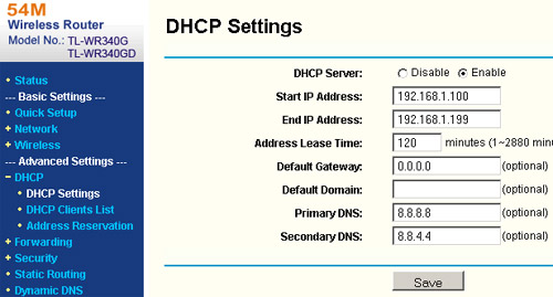 router dns setting