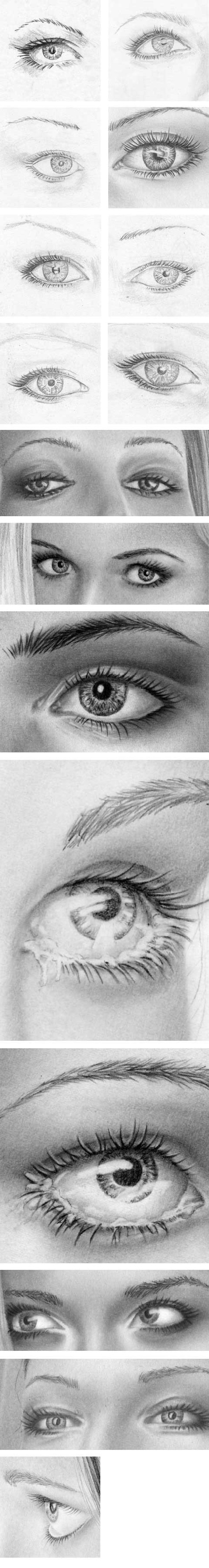 how to draw eyes examples