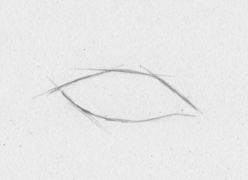 how to draw eyes step 1