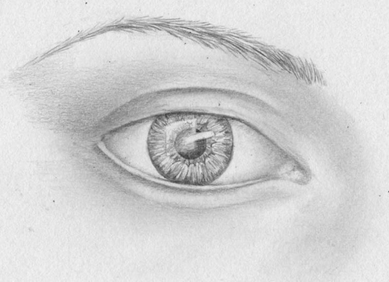 how to draw eyes step 12