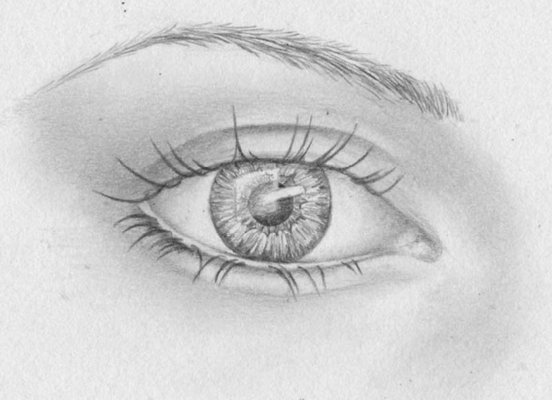 how to draw eyes step 13
