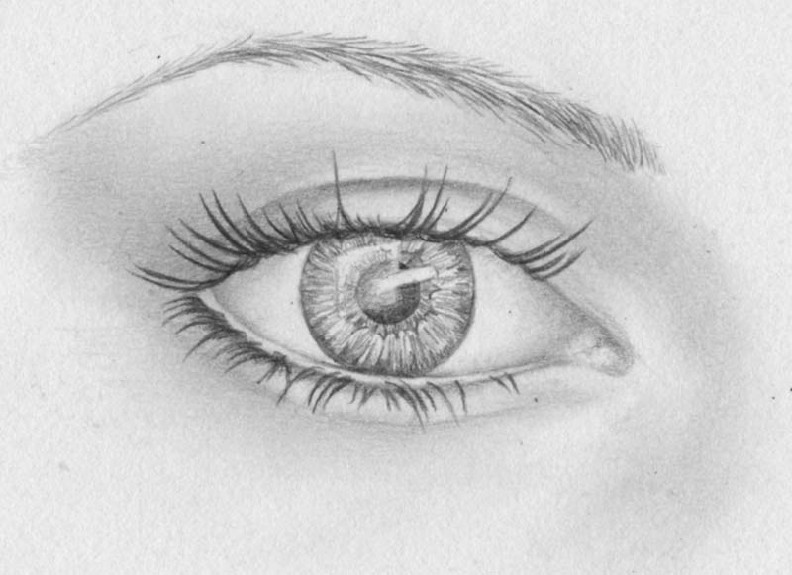 how to draw eyes step 14