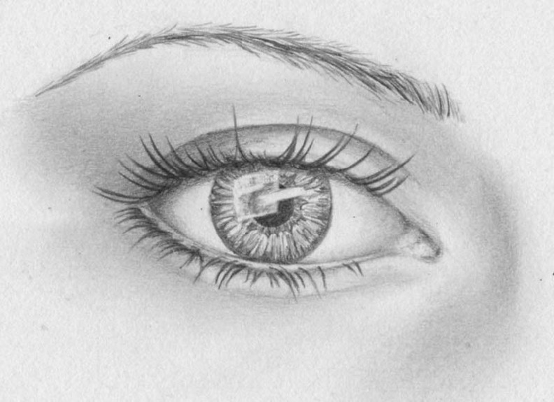 how to draw eyes step 15