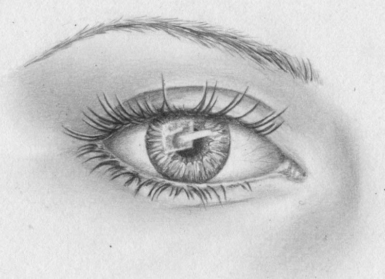 how to draw eyes step 16