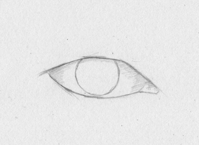 how to draw eyes step 2