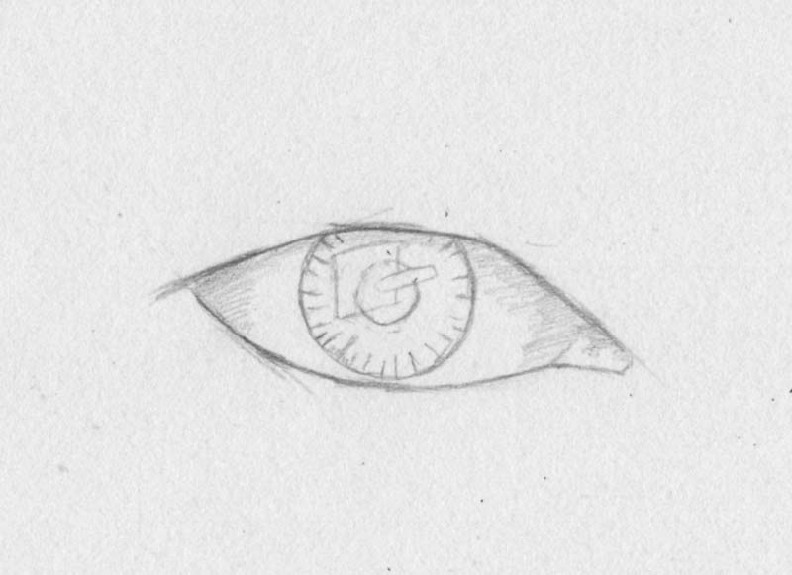 how to draw eyes step 3