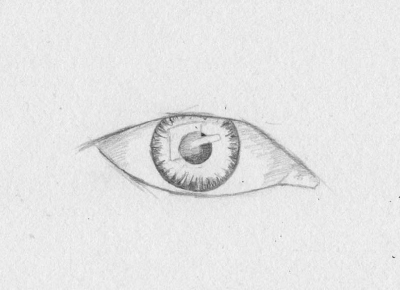 how to draw eyes step 4