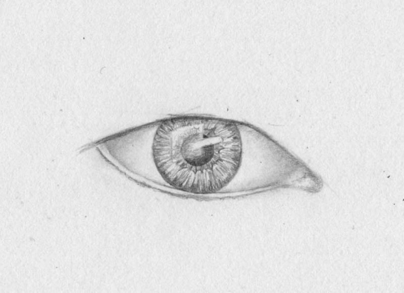 how to draw eyes step 8