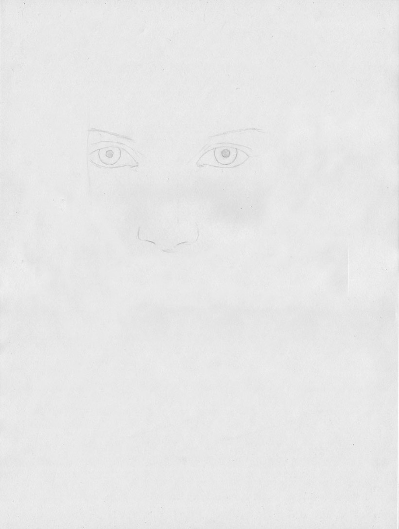 how to draw a face step 1