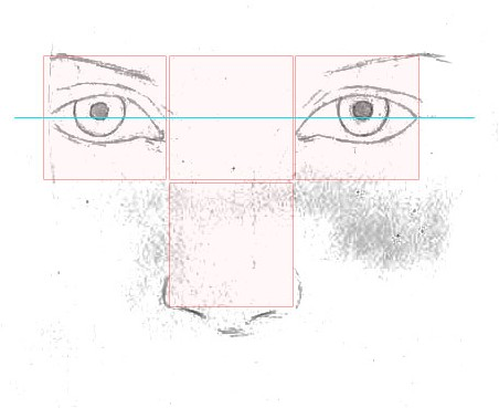 how to draw a face step 2