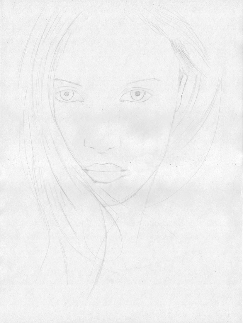 how to draw a face step 3