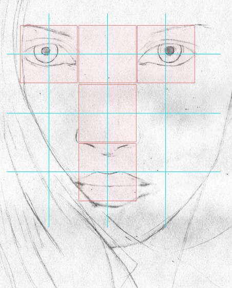 how to draw a face step 4