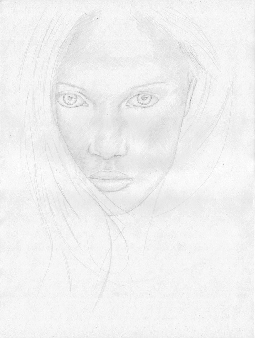 how to draw a face step 6